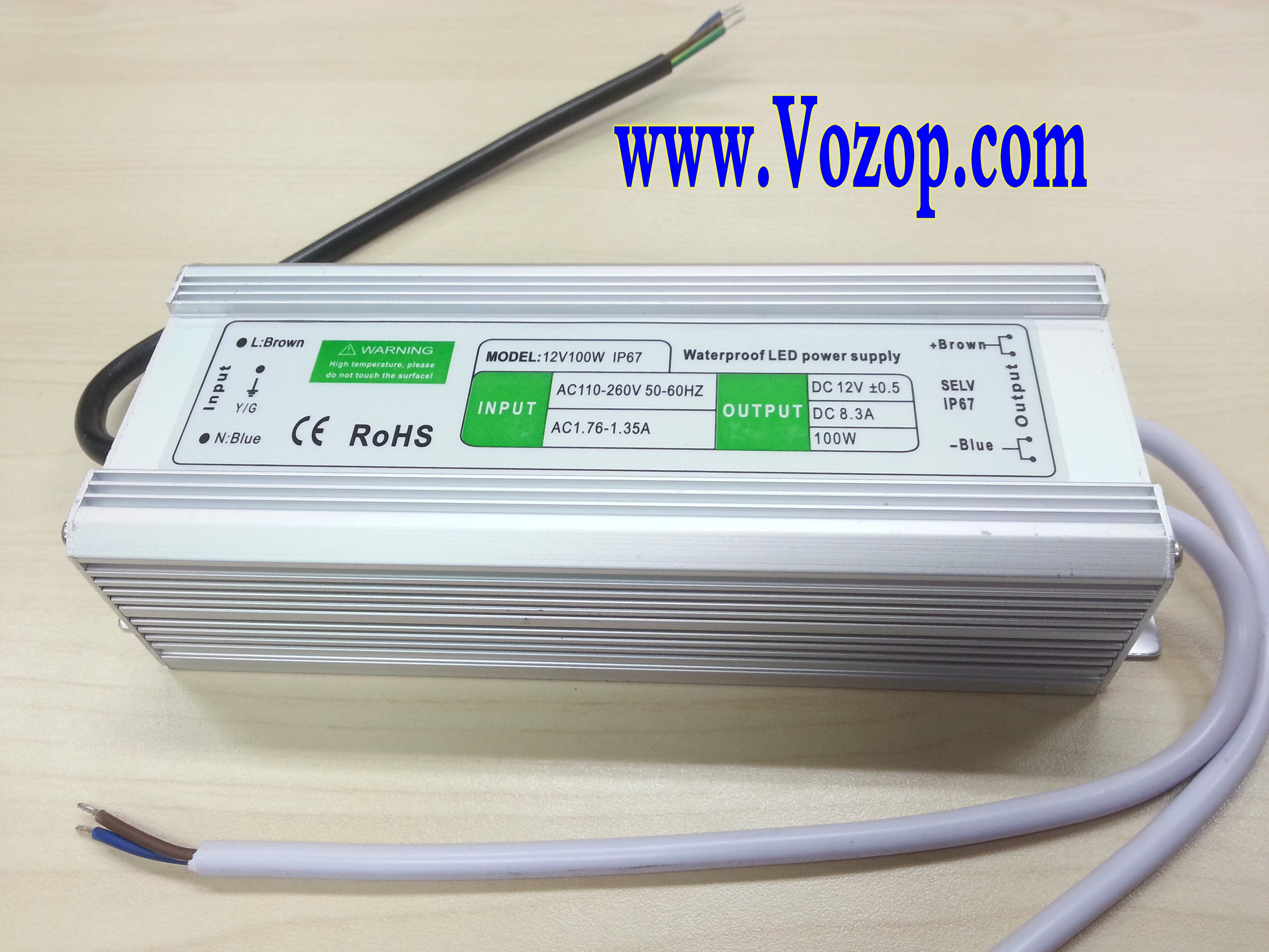 12V_100W_LED_Driver_Waterproof_Transformer_power_supply