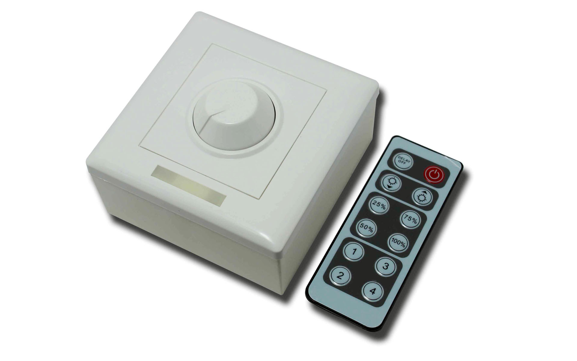 12_keys_infrared_remote_single_color_LED_light_dimmer