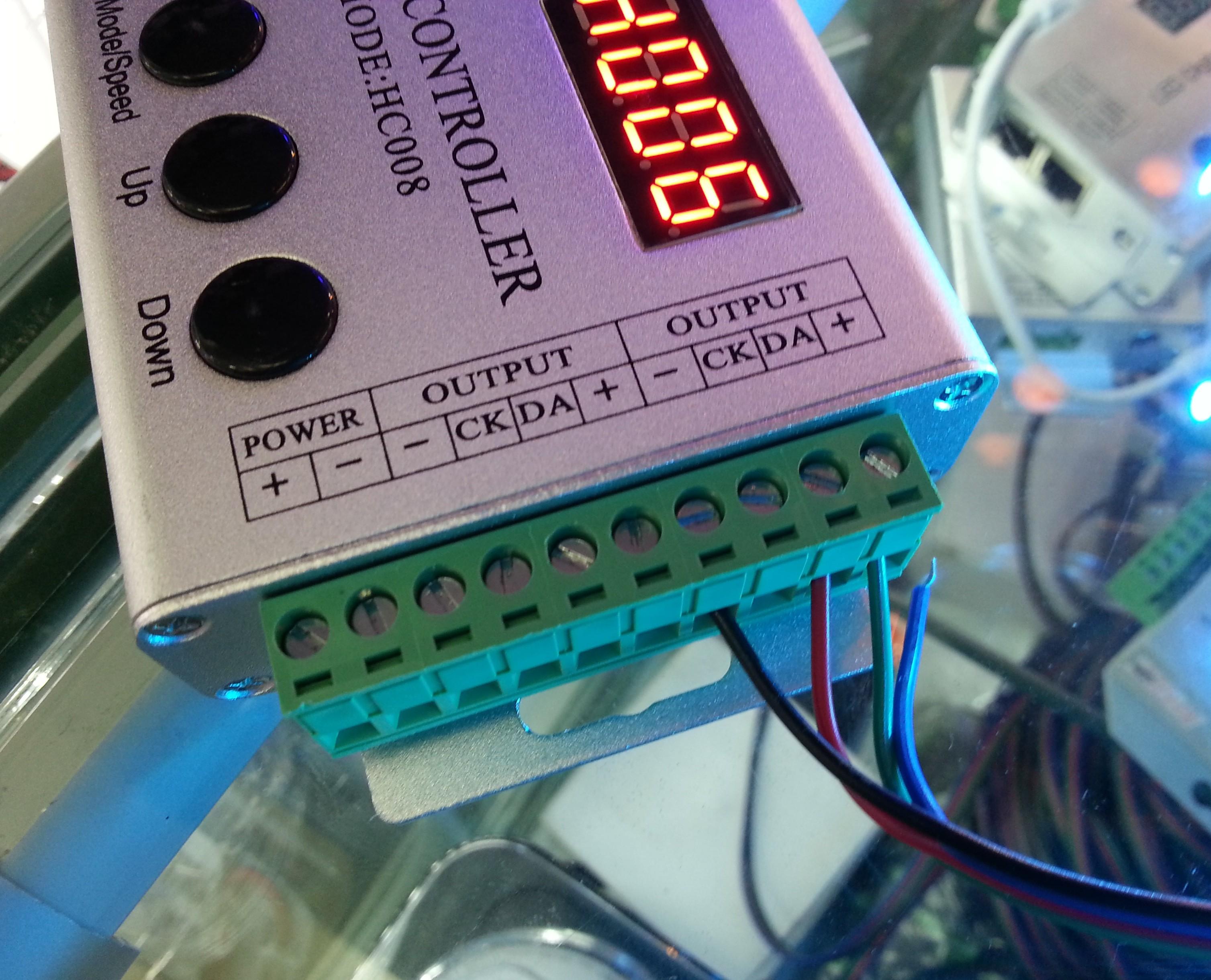 133_change_rf_controller_1809_IC_5M_5050_RGB_LED_Strip_Waterproof