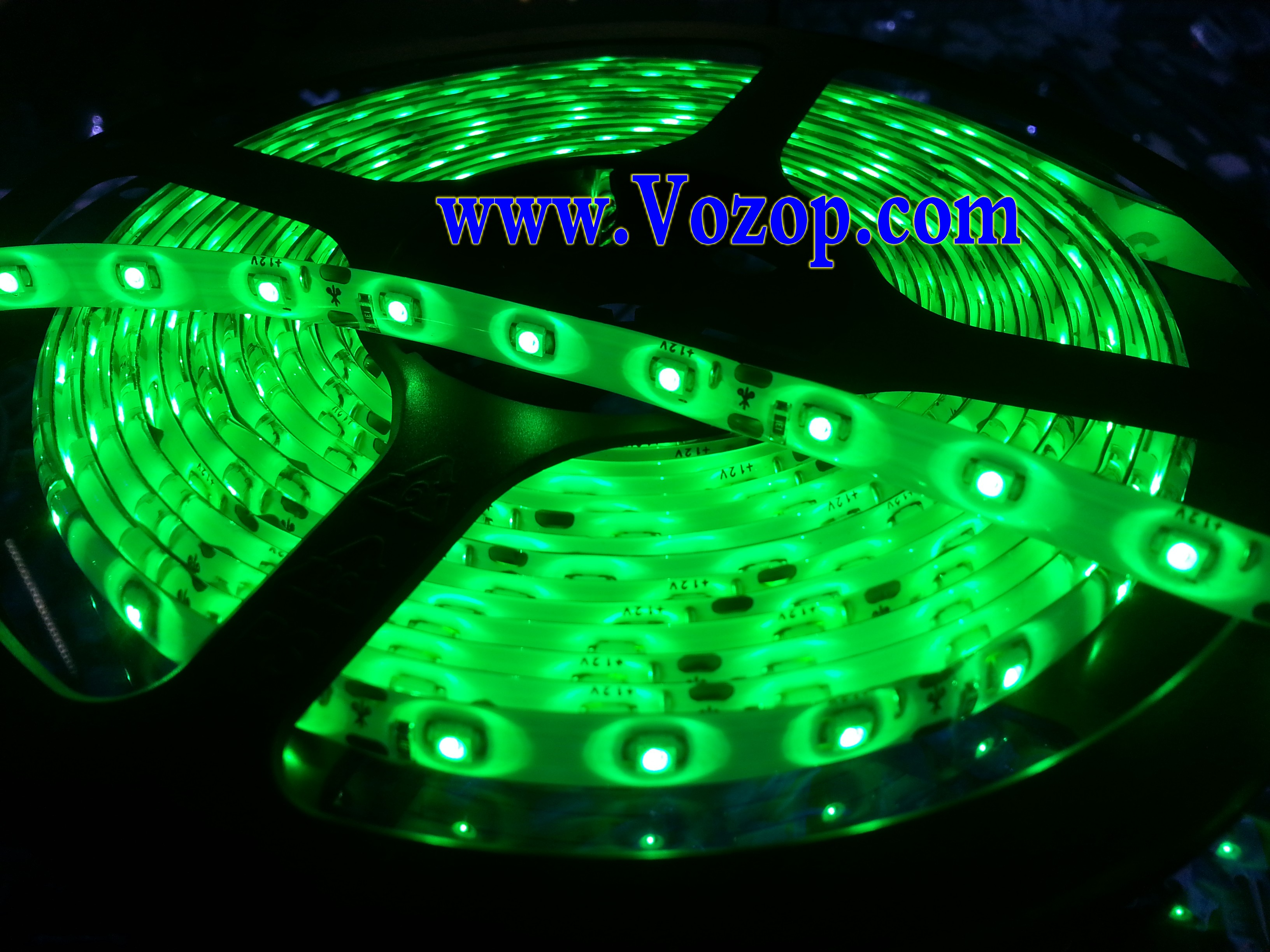 16.4_Feet_Green_LED_Light_5M_300_SMD_3528_LEDs_Waterproof_Lights