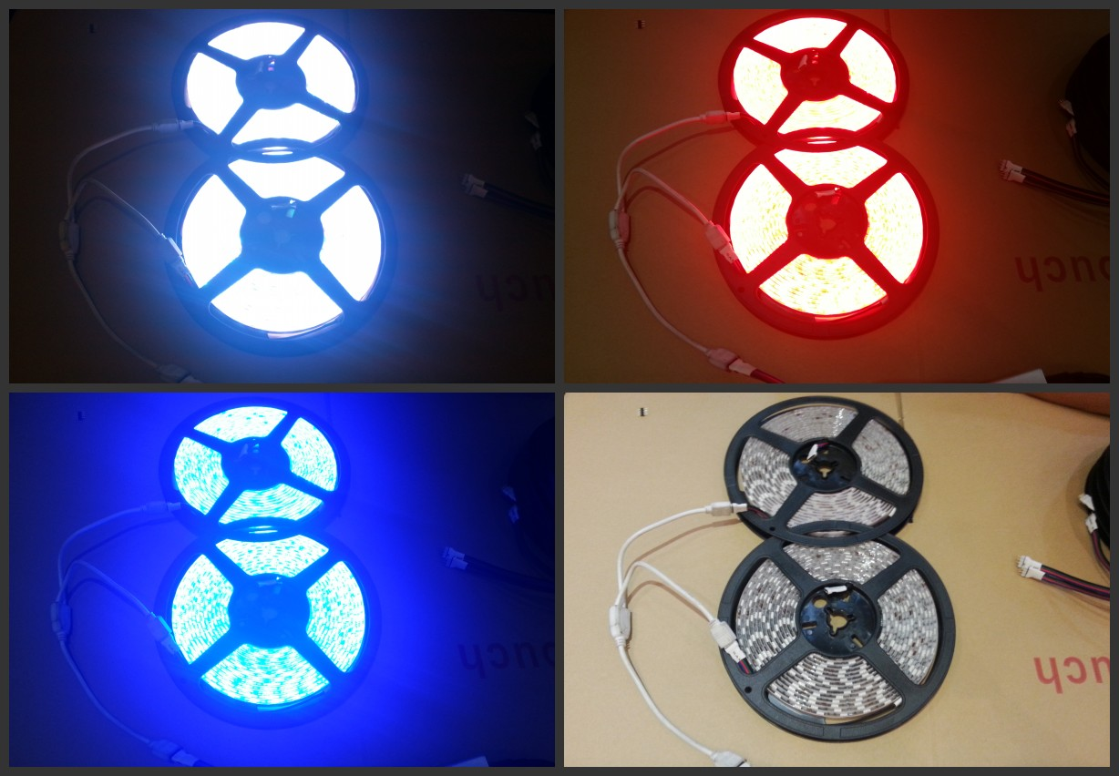 1_Female_2_Male_4_Pin_RGB_LED_Strip_light_Connector_connecting
