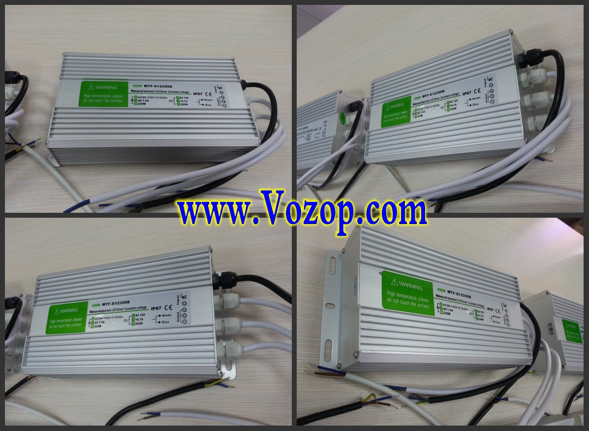 200W_Power_Supply_IP67_Waterproof_Transverter_Adapter