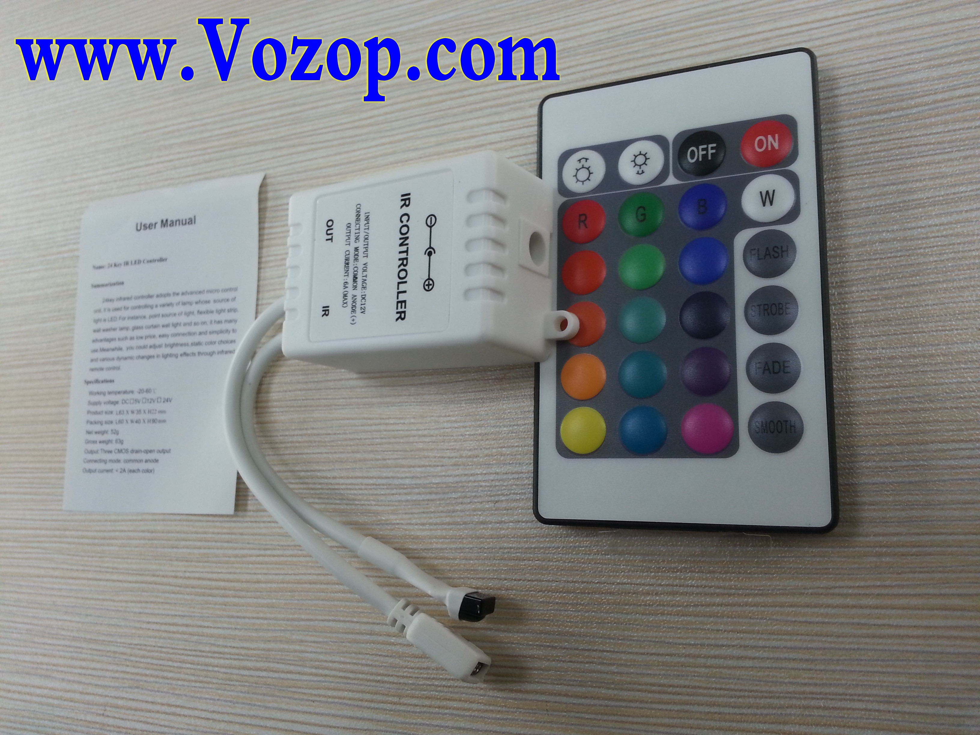 24_Key_IR_Ribbon_Remote_RGB_LED_Controller