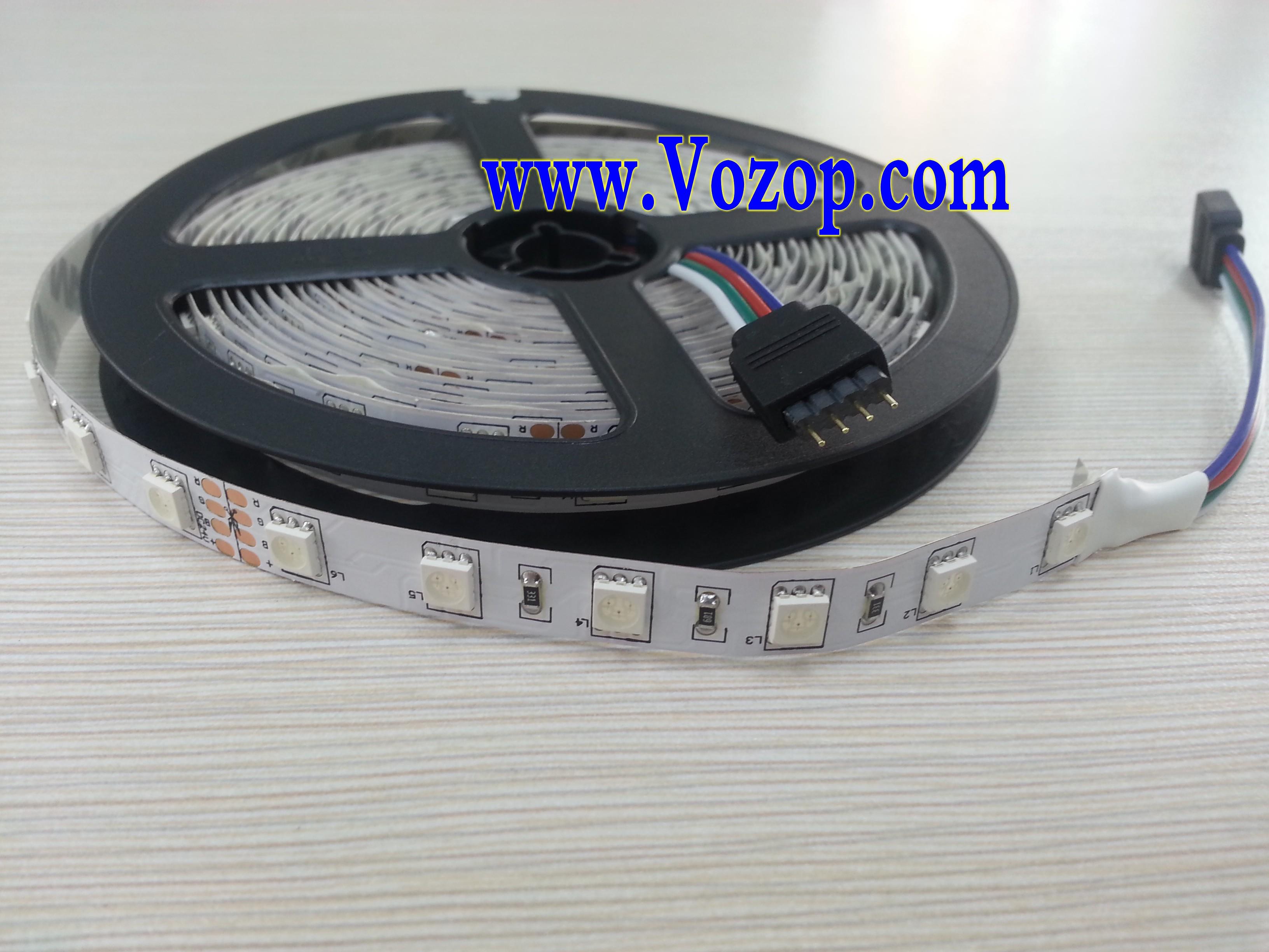 24v rgb led strip 5m 300 leds smd5050 non waterproof light led strips led controllers led. Black Bedroom Furniture Sets. Home Design Ideas