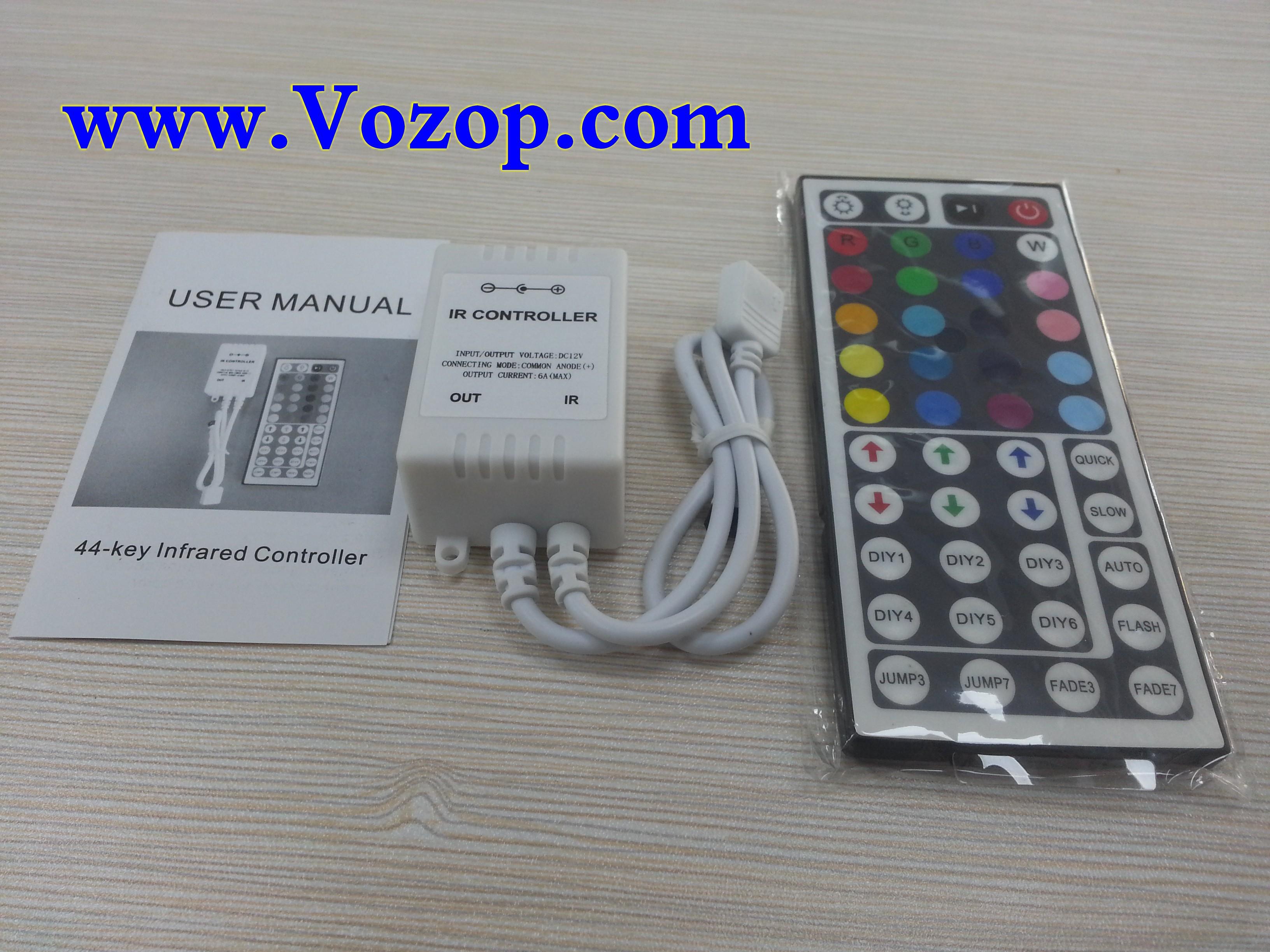 44_Key_IR_Ribbon_Remote_RGB_Controller_for_RGB_LED_Light_Strip