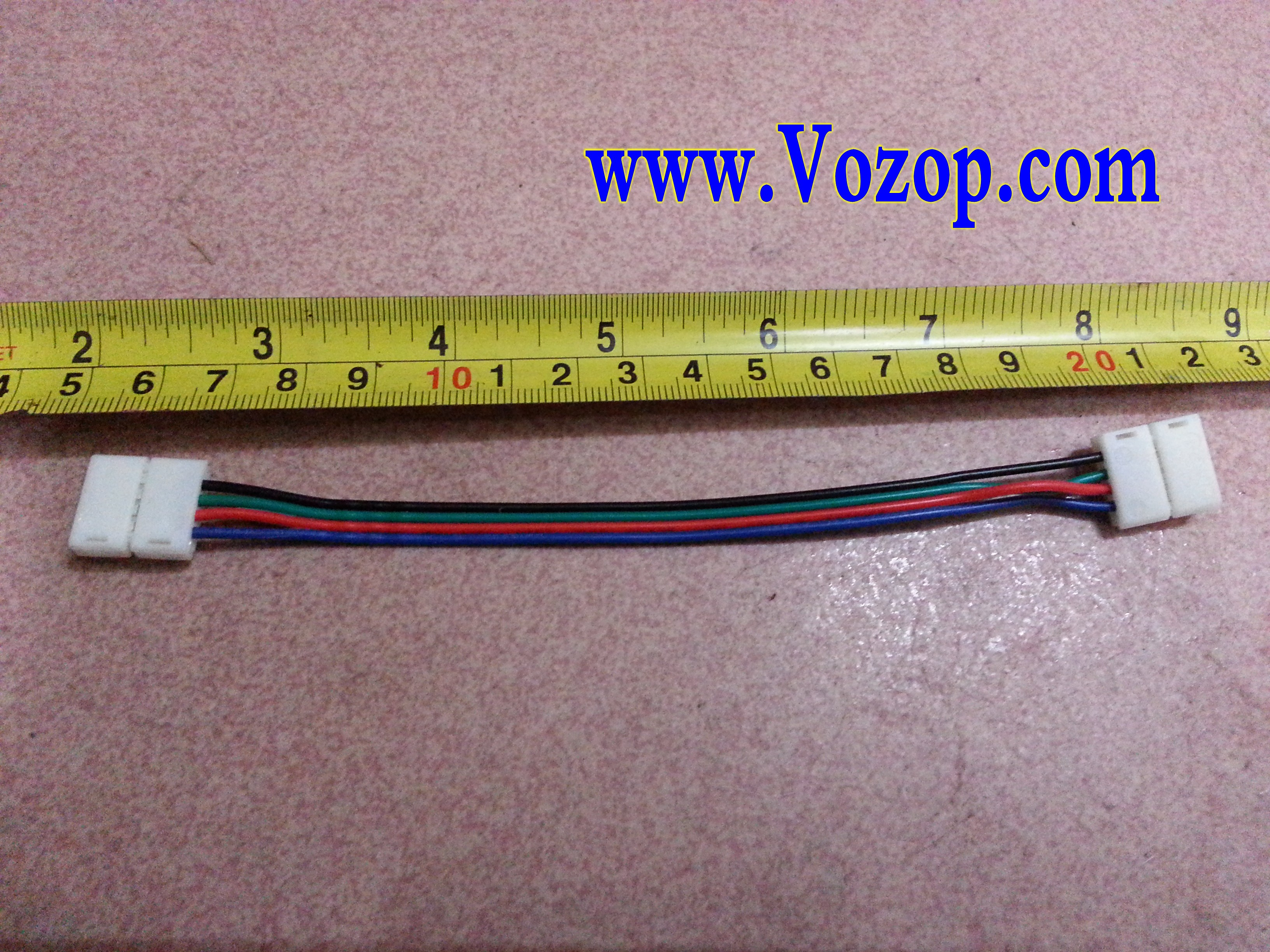 4_Pin_Connector_with_15cm_wire_for_10mm_width_RGB_5050_LED_Strip