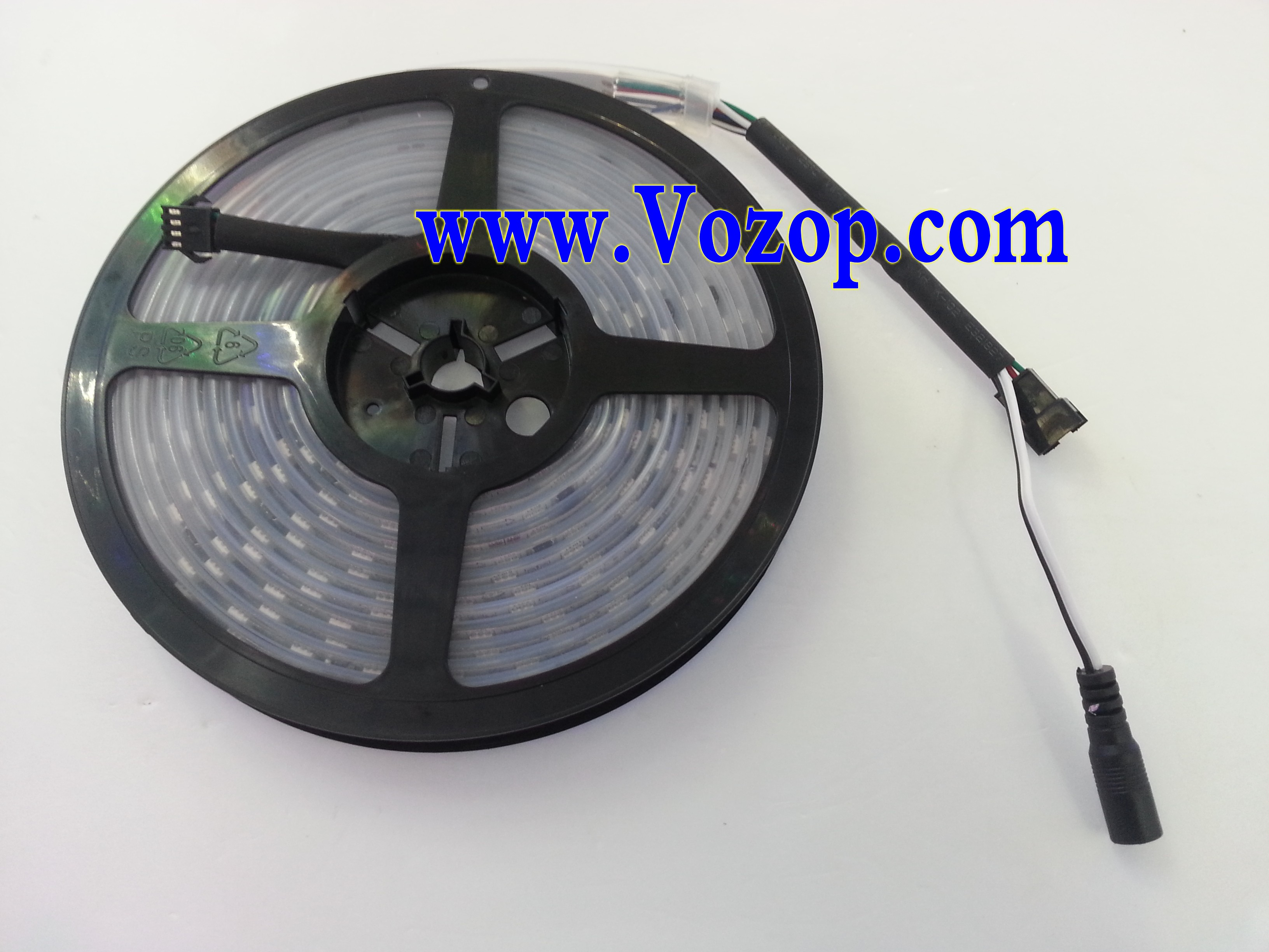 5_Meters_Intelligent_TM1812_RGB_5050_Digital_LED_tape_Strip_with_Controller