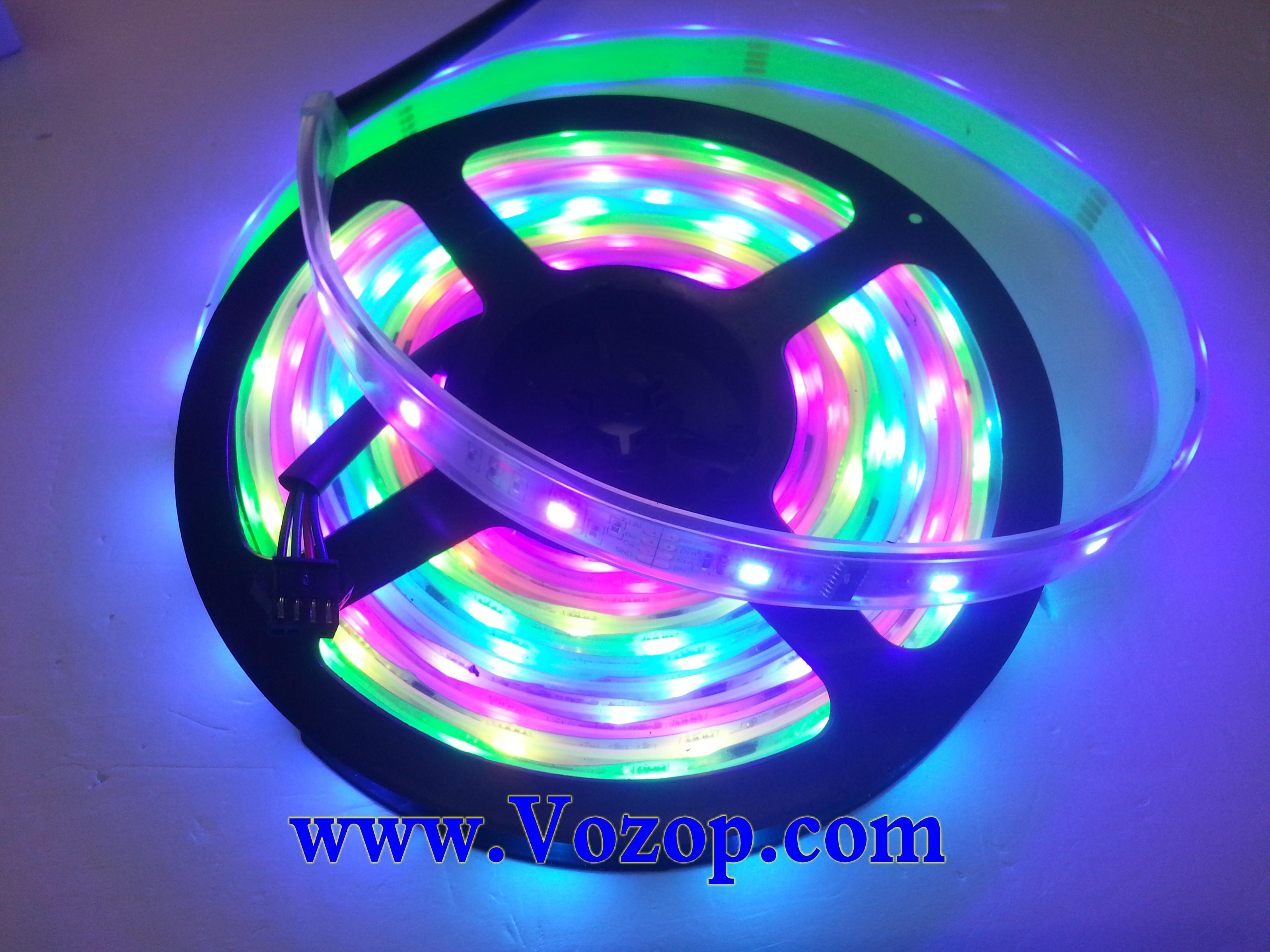 6803_IC_Intelligent_5050_RGB_LED_strip_lights_with_Remote_RF_Controller