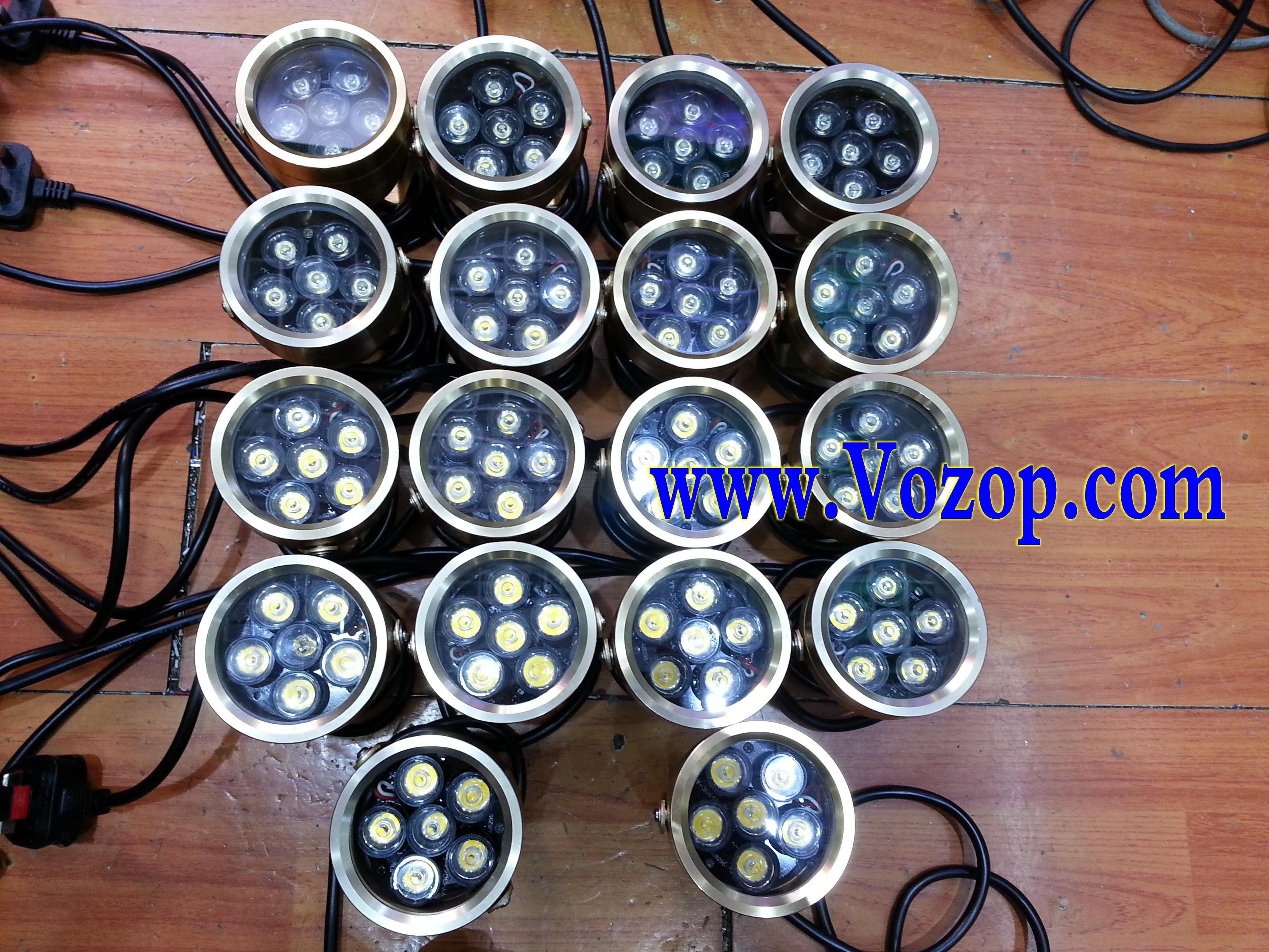 6W_Project_Flood_Light_Outdoor_Garden_Lamp_Golden_Shell_spotlights