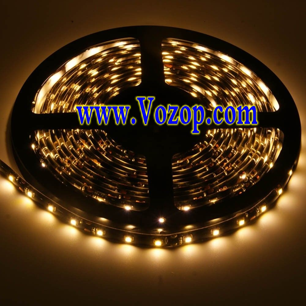 Black PCB 3528_white_LED_Strip_Light_Waterproof_Flex_Tape