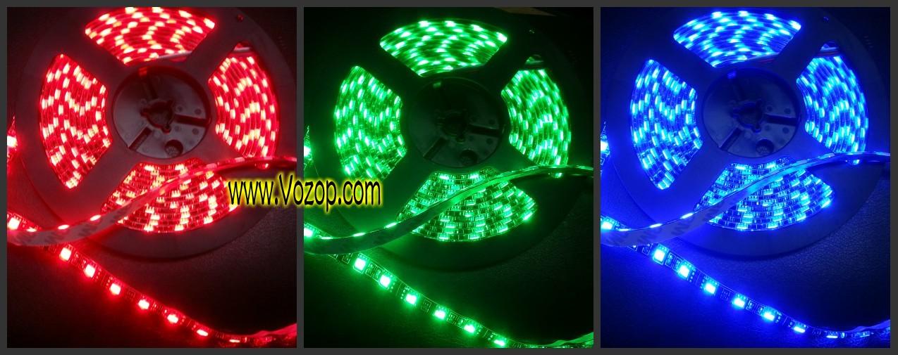 Black_PCB_5M_300_LEDs_waterproof_RGB_5050_black_background_LED_Tape_Strips