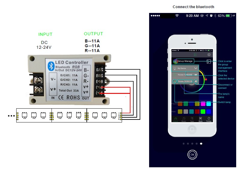 DC_12V_24V_33A_Bluetooth_RGB_LED_Controller_via_IOS_Android_Device_manuals