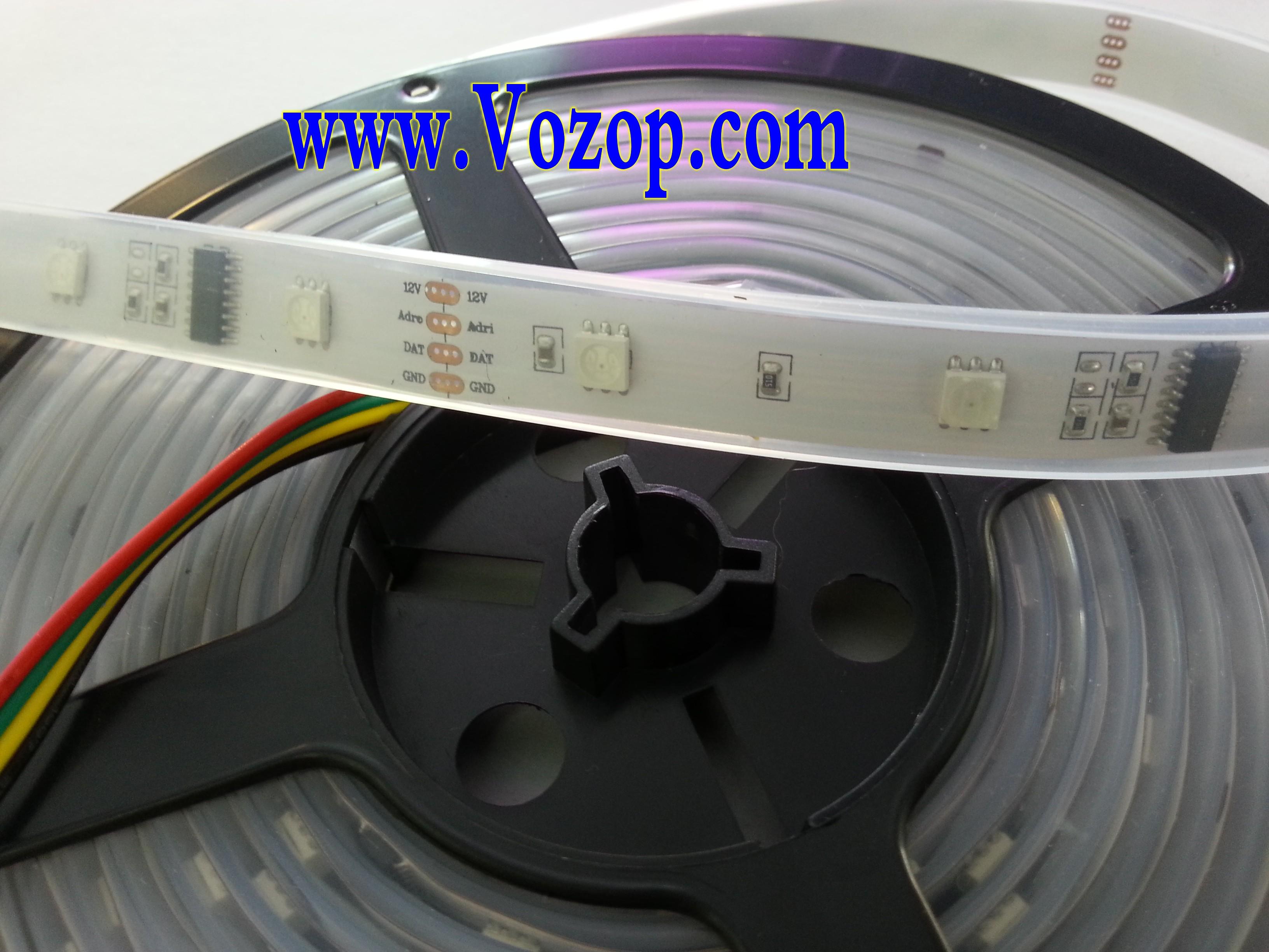 Dmx Addressable Rgb Led Lighting Strip 5m 150leds 12v