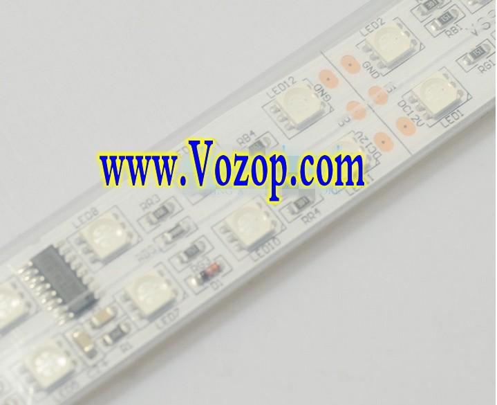 Double_Row_TM1812_Addressable_5050_RGB_LED_Strip_5M_600LED_Light