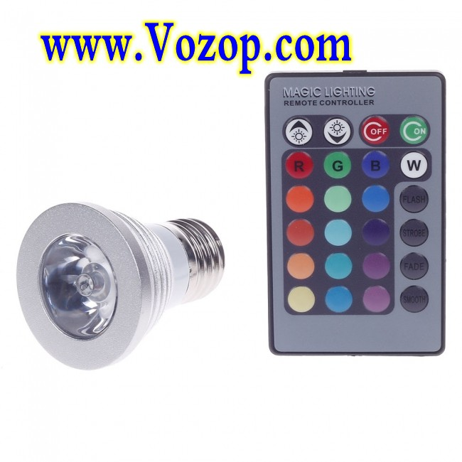 3w rgb led bulb spotlight ac 85 265v e27 spot light lamp led strips led controllers led. Black Bedroom Furniture Sets. Home Design Ideas