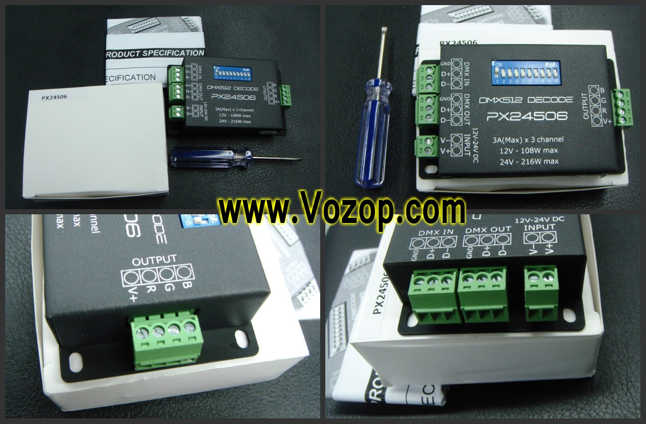 PX24506_3A_3_Channels_DMX_Constant_Voltage_Decorder_for_RGB_LED_Lighting