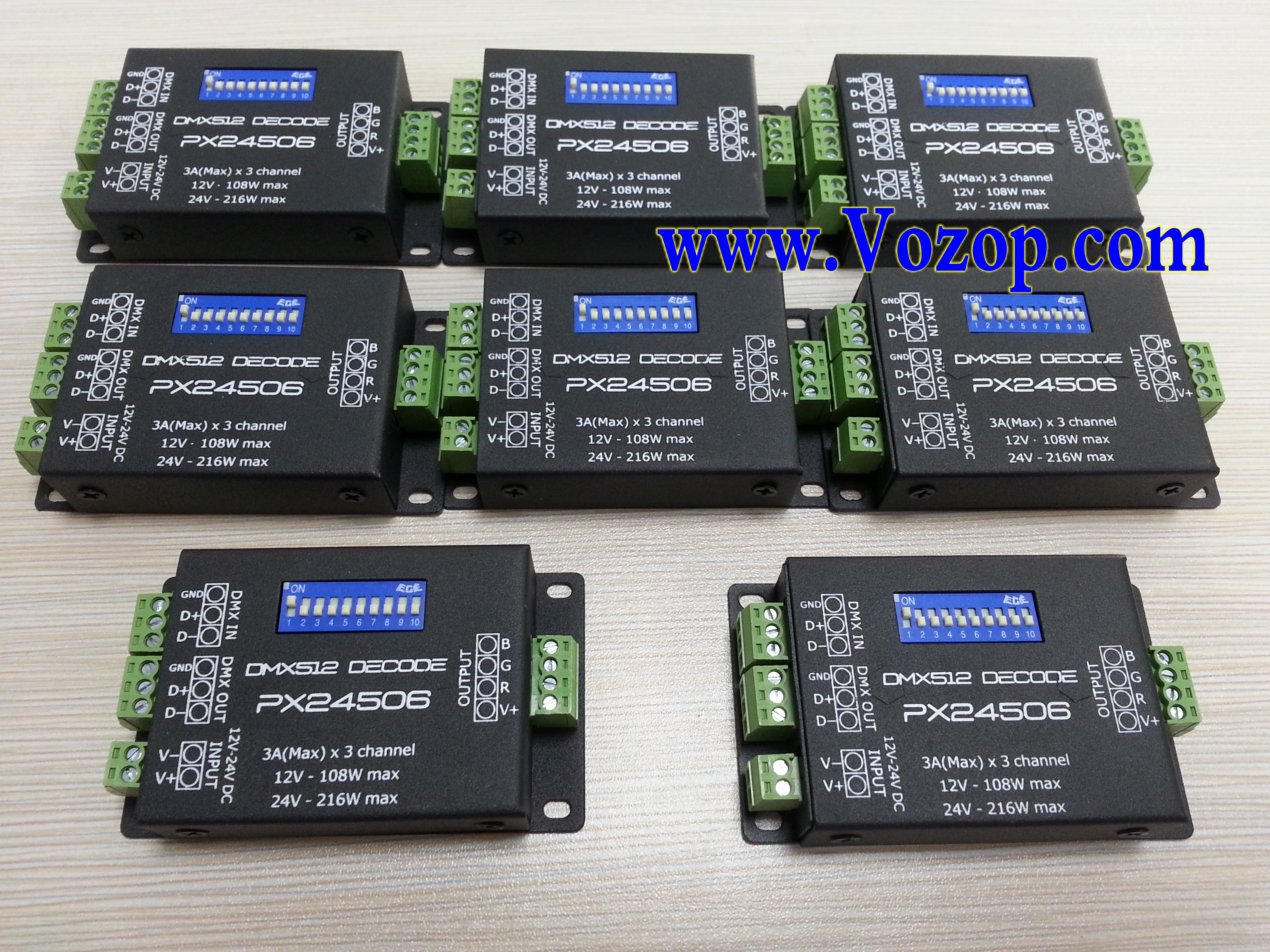 Px24506 3 Channels Dmx Constant Voltage Decorder For Rgb Light Led Dmxprojectscom Dmx512 Lighting Projects Relay Schematic Can Set The Address Freely Lights Decoder Driver 9a 512 Amplifier