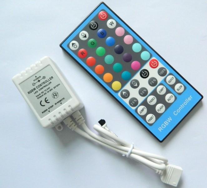 RGBW_RGBWW_Controller_4CH_12V_24V_8A_40_Key_IR_Controller