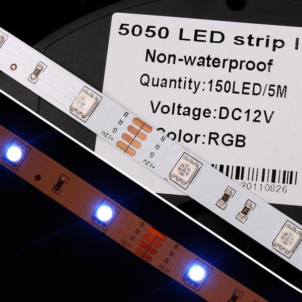5 meters rgb led streifen smd 5050 150 leds strip band leiste. Black Bedroom Furniture Sets. Home Design Ideas