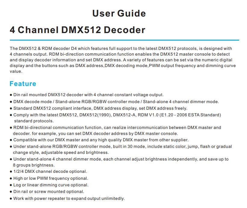 Skydance_CV_DMX512_RDM_Decoder_D4_1
