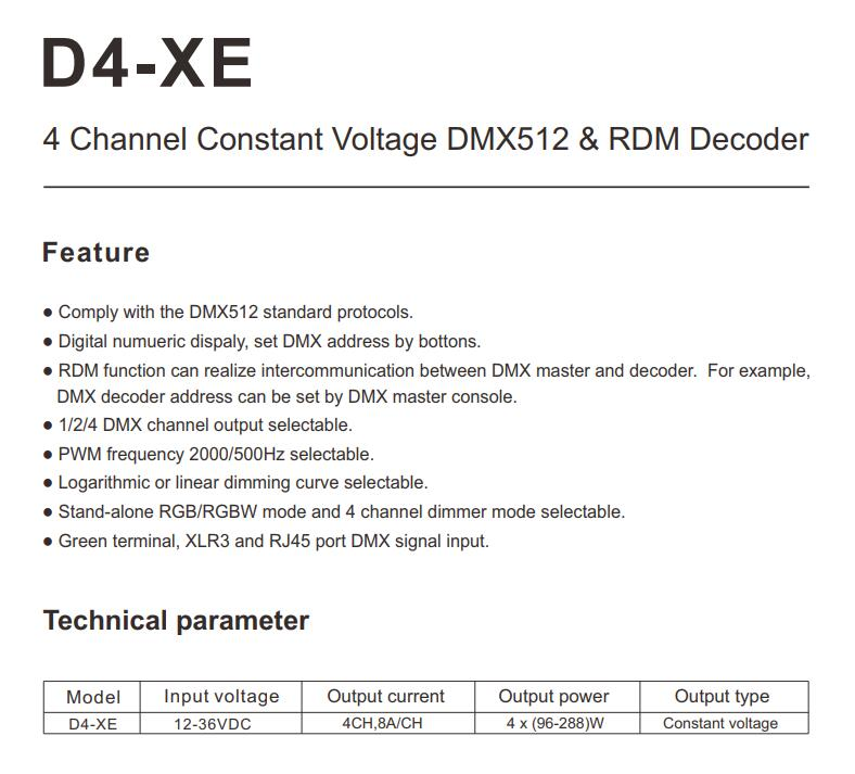 Skydance_CV_DMX512_RDM_Decoder_D4_XE_1