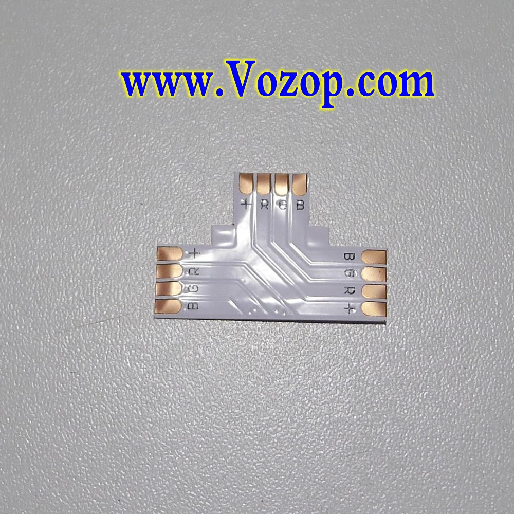 T_Shape_4_PIN_Connector_for_10mm_5050_SMD_RGB_Flexible_Strip