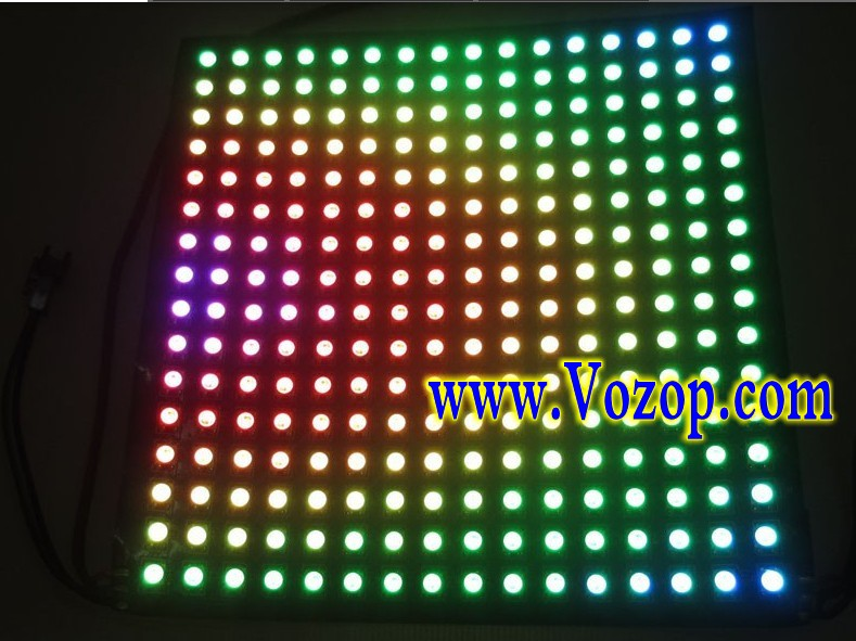 WS2812B_Screen_Display_Addressable_LED_Panel_256_Pixels_Lights