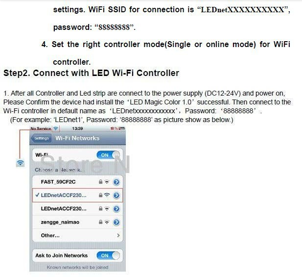 Wi-Fi LED Controller Hub