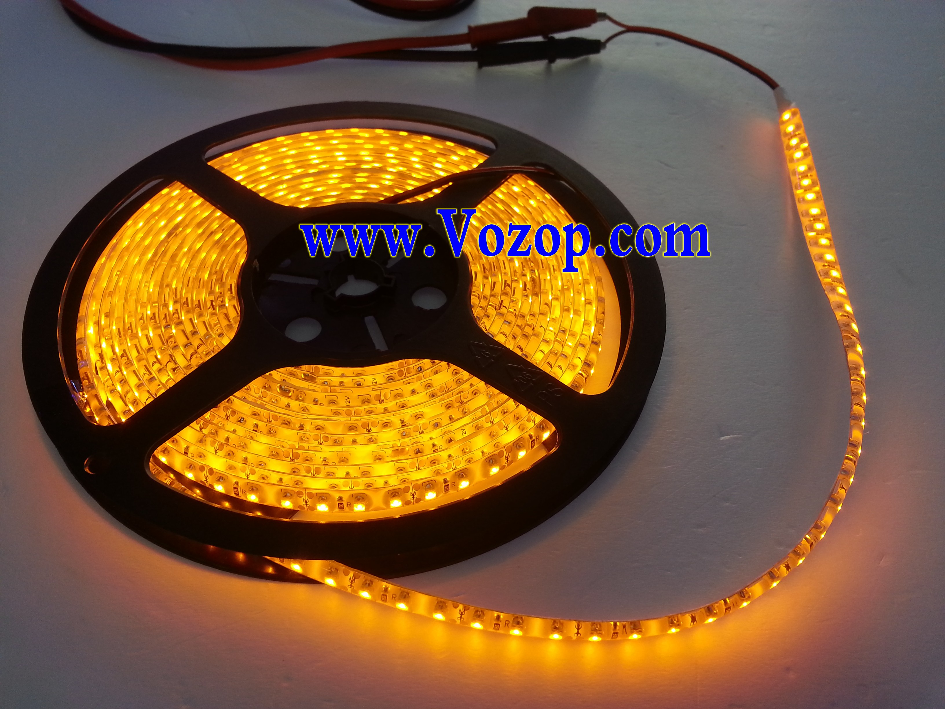 Yellow_3528_LED_Ribbon_Strip_Light_120LED_per_Meter_Waterproof_With_3M_Tape