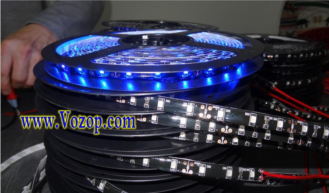 blue_Black PCB 3528_LED_Strip_Light_Waterproof_Flex_Tape