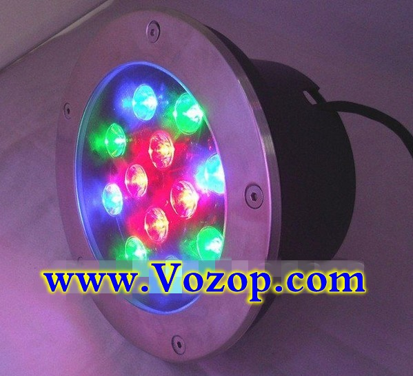 rgb_12W_Stainless_Steel_LED_Underground_Light_Outdoor_Buried_Light