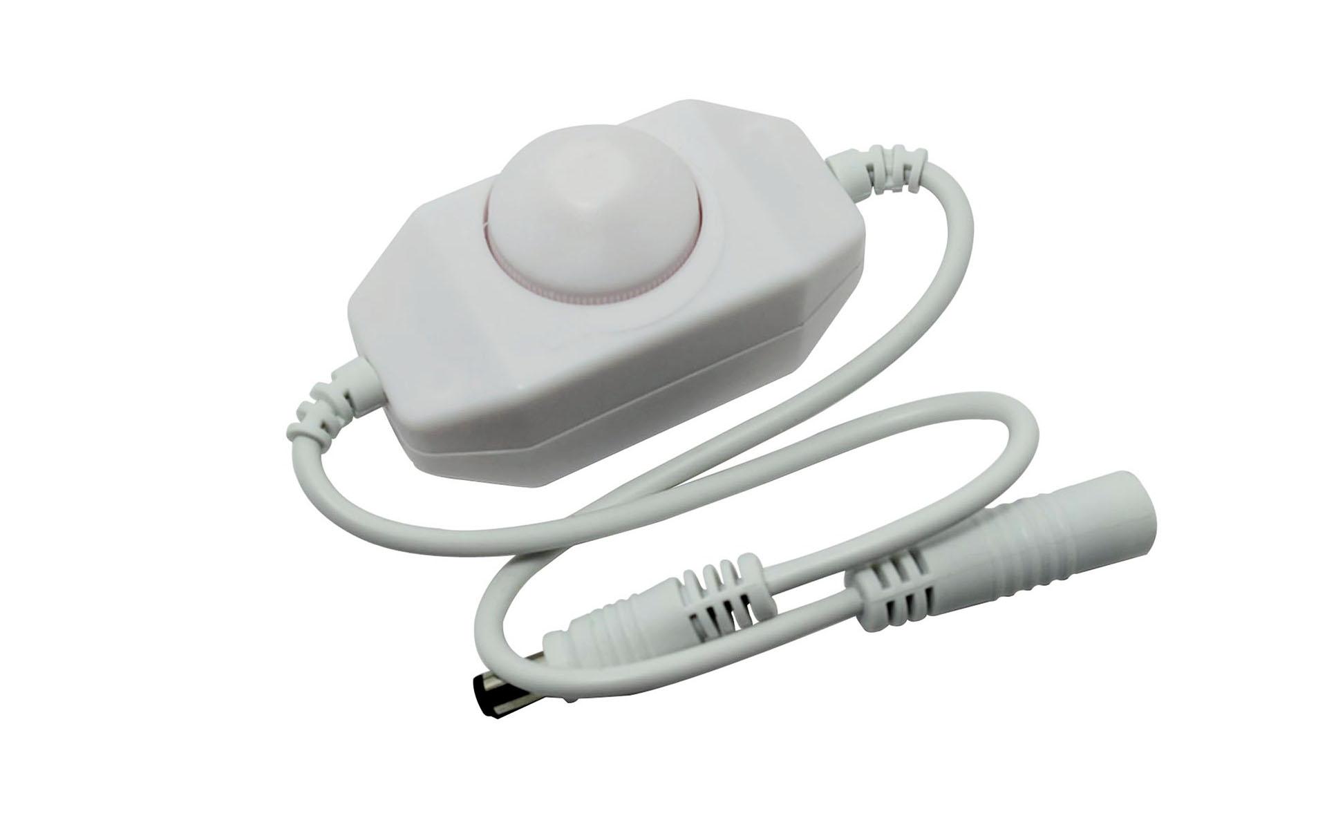 inline single color led dimmer switch with rotary knob 12v 24v 2pcs led strips led. Black Bedroom Furniture Sets. Home Design Ideas