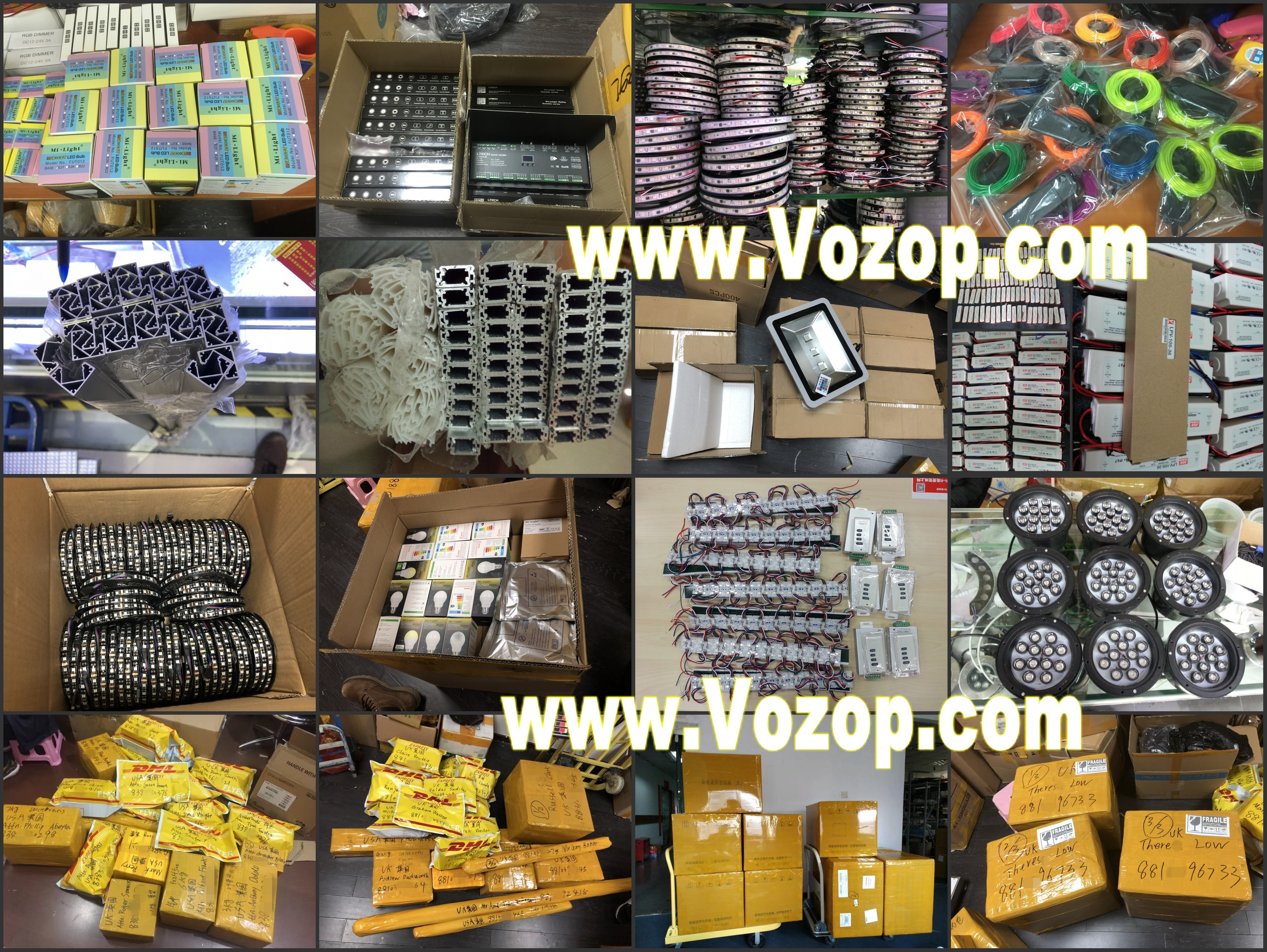 vozop_quick_LED_lights_products_shipping_to_USA_UK_europe_factory