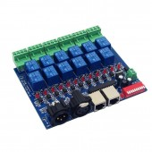 12 Way Relay Switch dmx512 Controller RJ45 XLR DMX-RELAY-12CH-10A