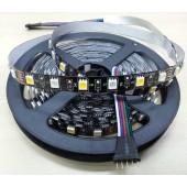 Black PCB RGBW LED Strip Light RGB+Warm/Pure White 12V 5M 300LEDs