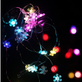 Colorful Sunflower 7ft 2M 20 LED Copper Wire String Fariy Light Battery Powered 5pcs