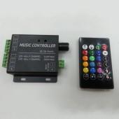 DC12V 24V 12A 3 Channels 2 Ports LED Music Active RGB Controller