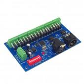 DMX512 18CH Controller Decoder DC 12V 24V
