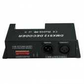 DMX 512 LED Decoder Controller Dimmer Driver DC 12V 24V 5A 4 Channel
