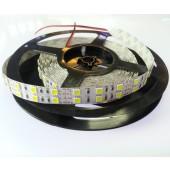Dual Line White 5M 600 LEDs SMD 5050 LED Strip Light DC 12V
