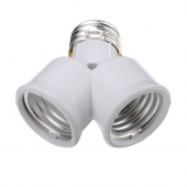 E27 Base LED Light Lamp Bulb Socket Y Shape 1 To 2 Converter Adapter Splitter 5pcs