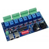 8CH DMX512 LED Controller XLR+RJ45 decoder 10A WS-DMX-RELAY-8CH
