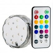 Submersible RGB LED Light with IR Remote Vases Plinth Waterproof Lights