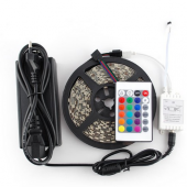 Waterproof RGB 5050 LED Strip 5M 150 LEDs+IR Controller+Adapter