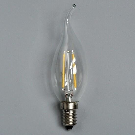 2W LED Filament Bulb Candelabra E12 E14 Light 220V 110V Candle Lamp