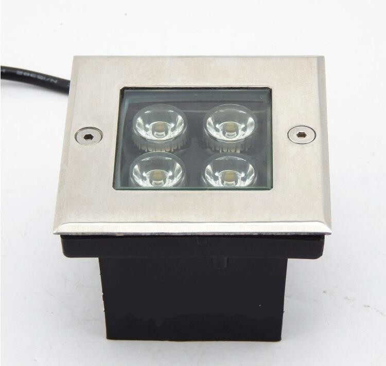 Square LED Underground Light 4W Ground Garden Path Buried Yard Lamp