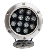 12W Led Underwater Light 12/24V IP68 Waterproof Pool Fountain Lamp