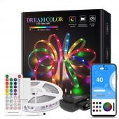 Dreamcolor LED Strip Light Bluetooth Music APP Control RGB WS2811 Flexible Lighting Gear