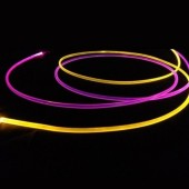 3.0mm Flexible Solid Core Side Glow Light Plastic Fiber Optic Cable 100 Meters