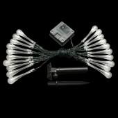 4.8M 20LEDs Raindrop Lamp Waterproof Christmas Fairy Solar Battery Light